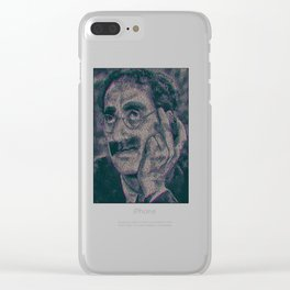 Groucho Marx - Duck Soup Screenplay Print Clear iPhone Case