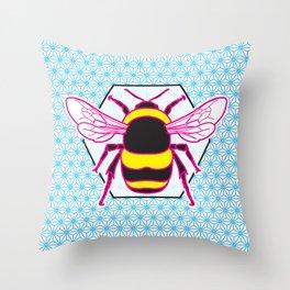 Geometric Bumblebee Throw Pillow
