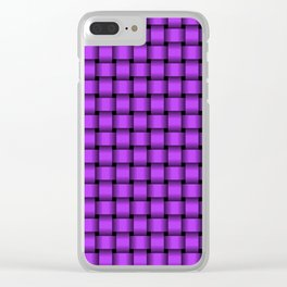 Small Light Violet Weave Clear iPhone Case