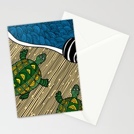 Struggle of the Turtle to the Sea Stationery Cards