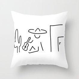 Mexican South America sombrero Throw Pillow
