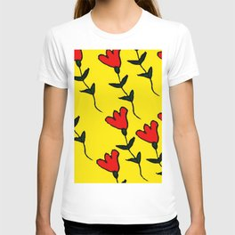 Repetitive Flower T-shirt