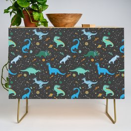 Dinosaurs in Space in Blue Credenza