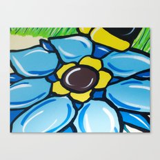 A Painting Of  A Flower Canvas Print