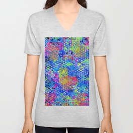 Graffiti Sea Unisex V-Neck