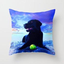 Ziggy Black Labrador Throw Pillow