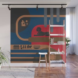 Egyptian Symbols Art Deco Composition #4 Wall Mural