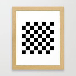 Checkerboard pattern Framed Art Print