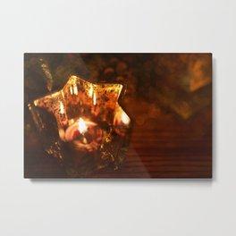 Light A Candle Metal Print