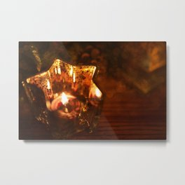 Light A Candle Metal Print