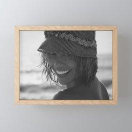 7543 Darling Rachael enjoying Delray Beach Framed Mini Art Print
