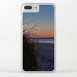 Moon Dunes Clear iPhone Case