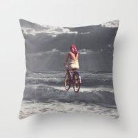 WAVE RIDER Throw Pillow