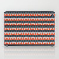 gray pattern iPad Cases featuring Orange Gray Pattern by Jaymee