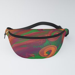 Abstract Brush Strokes Fanny Pack