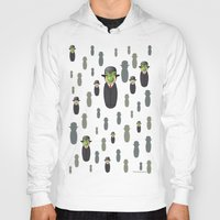 magritte Hoodies featuring Kokeshi Magritte pattern by Pendientera
