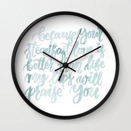 Praise You Wall Clock