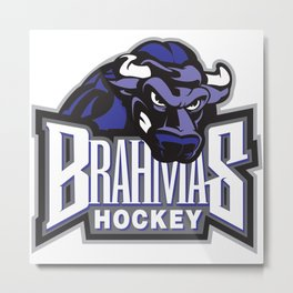 Brahmas hockey Metal Print