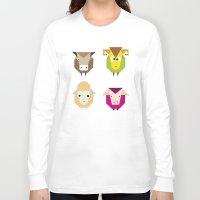 farm Long Sleeve T-shirts featuring geometric farm by Fairytale ink