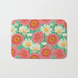 Kitschy Daisy Bouquet Bath Mat