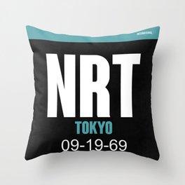 NRT Tokyo Luggage Tag 2 Throw Pillow