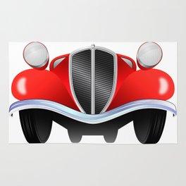 Old vintage model of the car Rug