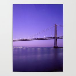 San Francisco - Oakland Bay Bridge at Night Poster