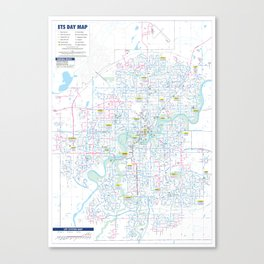 ETS Map Canvas Print