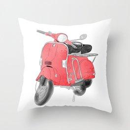 Red moto Throw Pillow