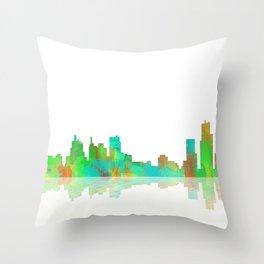 Skyline Detroit Throw Pillow