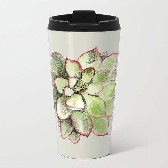 Echeveria Metal Travel Mug