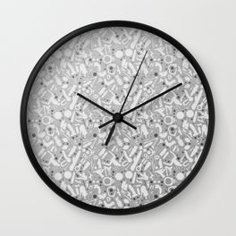 NSFW Kinky S&M Pattern Wall Clock