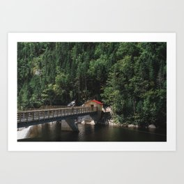 the red roof Art Print
