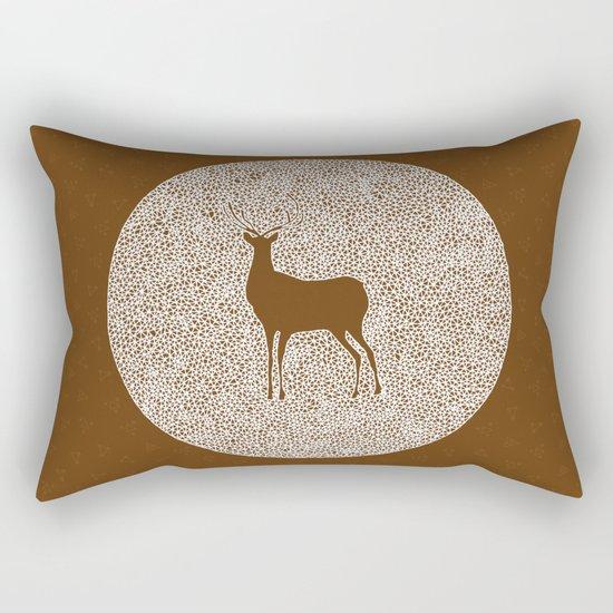 Deer Mandala 2 color Rectangular Pillow