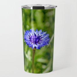 Blue Cornflower Travel Mug