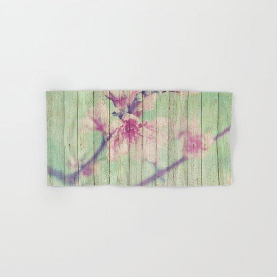 Sweet Flowers on Wood 05 Hand & Bath Towel