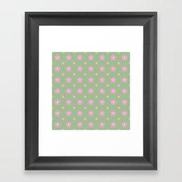 Sakura Pattern Framed Art Print