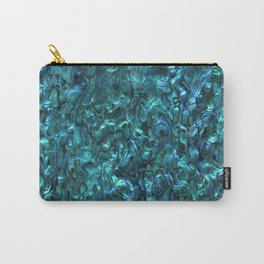 Abalone Shell | Paua Shell | Sea Shells | Patterns in Nature | Cyan Blue Tint | Carry-All Pouch