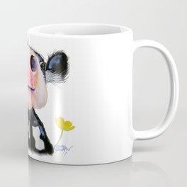 Nosey Friesian Cow ' DAFFODIL by Shirley MacArthur Coffee Mug