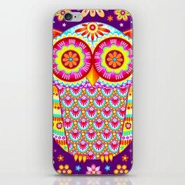 Colorful Owl Art iPhone Skin