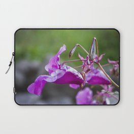 Indian Balsam Bokeh on the banks of the River Tay in Scotland Laptop Sleeve