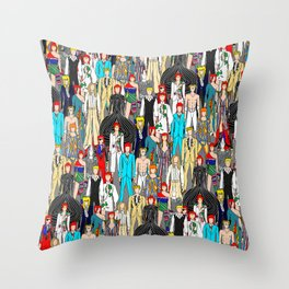 Bowie-A-Thon Throw Pillow