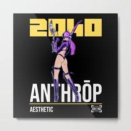 2040 Anthröp Ästhetic - Anime Future Fan Metal Print