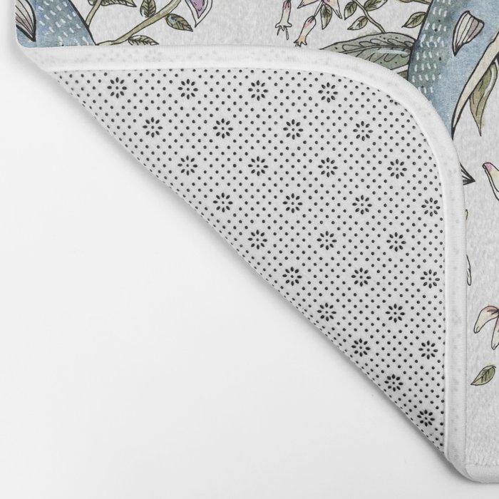 Narwhal pattern Bath Mat