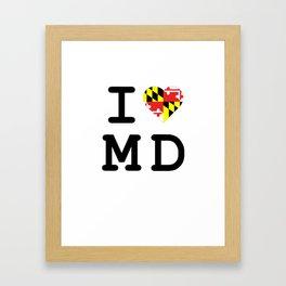 I Heart MD Framed Art Print