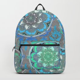 Mint Green, Blue & Aqua Super Boho Medallions Backpack