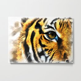 Eye of the Tiger Metal Print
