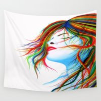wind Wall Tapestries featuring Wind by Souls & Colors