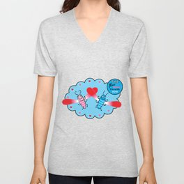 Lovebugs - Time flies when I'm with you Unisex V-Neck