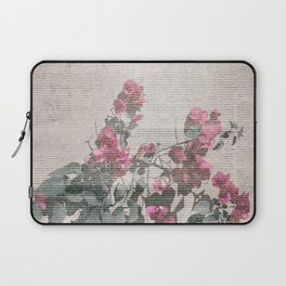 Shabby Chic Style Floral Photo Laptop Sleeve